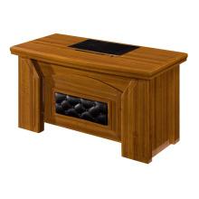 walnut leather pattern small boss table