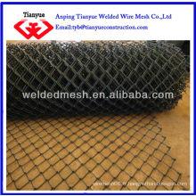 Clôture en chaîne galvanisée et revêtue de PVC