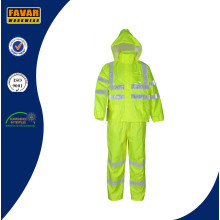 Hi Vis Breathable Water Proof Rain Suit/Rain Wear