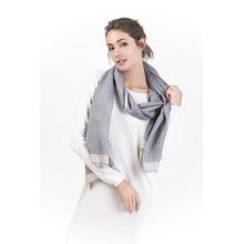 Tt-90% Wolle & 10% Kaschmir Garn Farbstoff Damen Schal