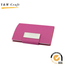 Titular de cartão de visita de couro PU logotipo personalizado de alta qualidade