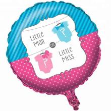 El género Reveal en forma de globo juega el globo de helio de aluminio para la fiesta de los niños