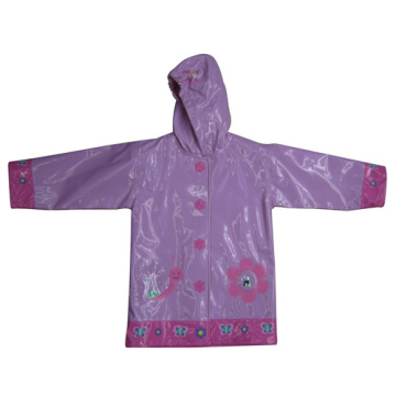 Good-looking Kids PU Raincoat