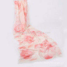 écharpe en laine florale de femmes d'été