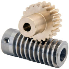 brass worm gear and steel shaft for gearbox