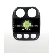 Quad core! Android 4.4 / 5.1 voiture dvd pour Jeep Compass avec écran capacitif de 10,1 pouces / GPS / lien miroir / DVR / TPMS / OBD2 / WIFI / 4G