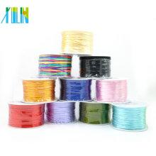 Cordón de nylon del cordón de Rattail de 7 # Satén 2.0mm Cordón de nylon de Corea para el collar y la pulsera DIY que hace en venta al por mayor, ZYL0005-7 #