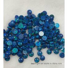 Синий созданный опал драгоценных камней