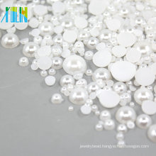 Half plastic flat back pearls beads 2mm FP03