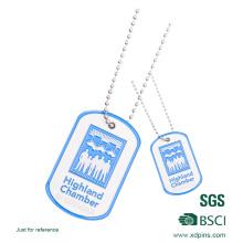Placa de identificación de metal estampada personalizada para Promtoional