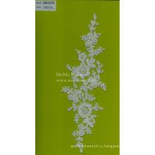 Вышитый бисером блестками кружева ткань для свадебного платья Белый кружева вышивка CMC037B