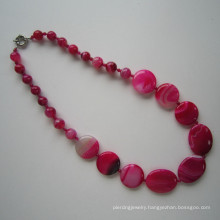 Bright-Coloured Pretty Agate Necklace, Made in China Manufacturer