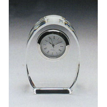 glass crystal desk clock/wedding favor crystal clock