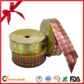 Christmas Plaid Ribbon Roll for Decoration
