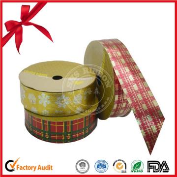 Christmas Plaid Ribbon Roll für die Dekoration