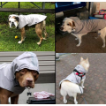 Poncho de lluvia gris para perro con capucha