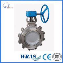 Top quality in different color sanitary single threaded butterfly valve