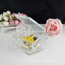 Cheap crystal glass piano music box for birthday gift and souvenir GCT-003
