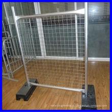 Clôture temporaire avec grillage métallique soudé / panneaux de clôture temporaires vente chaude