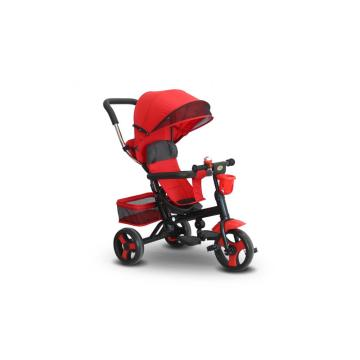 Three Wheel Hand Push Children/Baby Tricycle with Sunshade