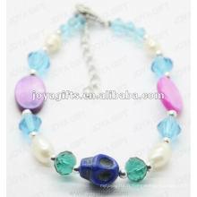 Fashion 2012 Joya Blue Glass Beads Anklet