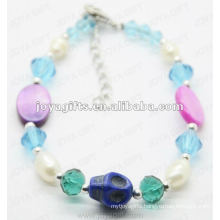 Fashion 2012 Joya Blue Glass Beads Anklet