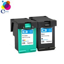 New printer ink cartridge for hp ink cartridge 135 ink cartridge 5740 6540 6840 7410 printer Guangzhou factory