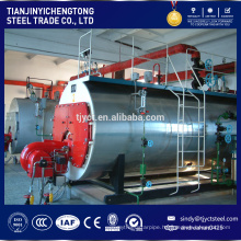 double drum wood flue steam boiler 5t/h