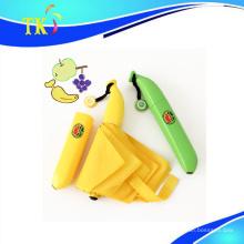 Paraguas / encantador paraguas de plátano para el sol y la lluvia como un regalo creativo