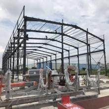 Estructura de acero Marco del portal y braguero