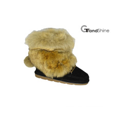 Women′s New Arrival Fur Shaft Snow Boots