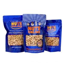 Standez le sac de noix avec la fermeture à glissière / sac d'écrous d'aluminium / casse-croûte