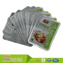 Custon Three Side Sealed Lebensmittelqualität Aluminiumfolie Sofortige Lebensmittelverpackungen Kunststoff-Verpackungsbeutel für Essiggurken