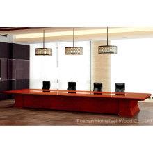 Mesa de reunião moderna de mesa de conferência de madeira (HF-Ltd128)