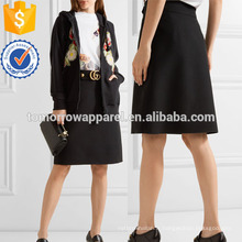 Jupe en laine et en soie mélangée Fabrication en gros de vêtements pour femmes (TA3037S)