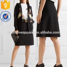 Lã e mistura de seda saia fabricação atacado moda feminina vestuário (t3037s)