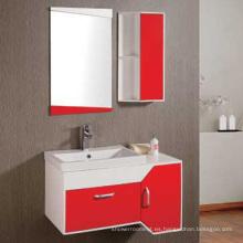 Tocador del gabinete de cuarto de baño del PVC de los 90cm (6139)