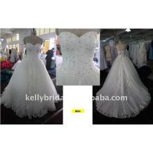 Venda quente e moda elegante vestido de casamento 2011 cristal