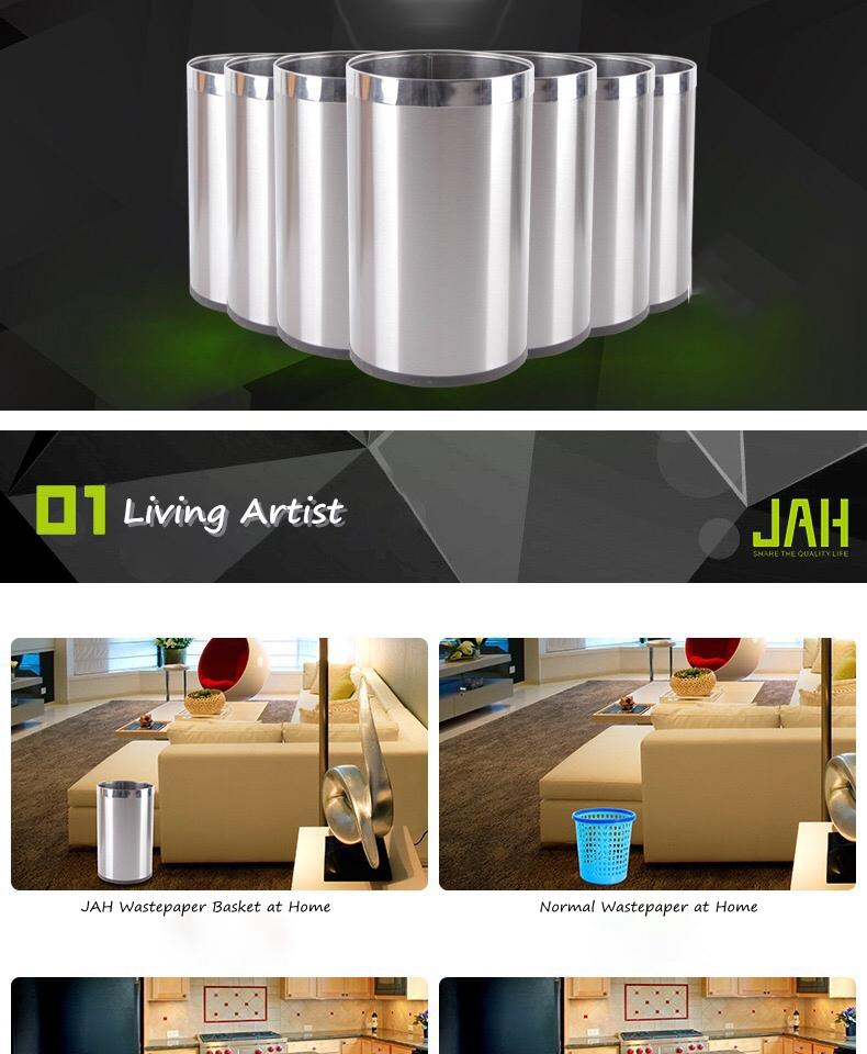 JAH Metal Trash Bin