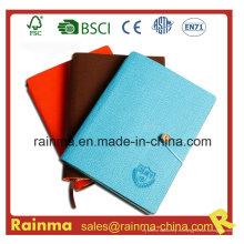 Cuaderno de papel con cubierta de cuero y tela