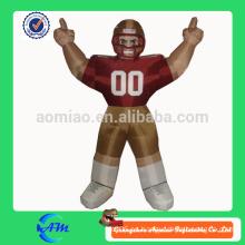 Nfl bubba jugador inflable jugador de fútbol para la venta personalizada de dibujos animados