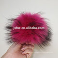 New Year Product Stylish Hat Accessory Fur Balls Genuine Big Size 19cm Raccoon Fur Pompom