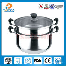 26cm 2 tier multipurpose stainless steel steamer pot