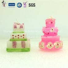 Прекрасный Свадебный Торт Свеча День Рождения Свеча