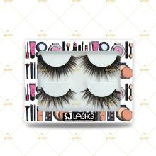 Naked 3D Mink Lashes with clear eyelash soft band private label 3DMT transparent 100% fur