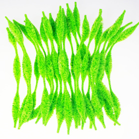 Green Bumpy chenille crafting fluffy tinsel sticks