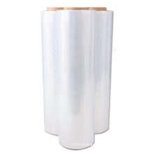 chinese cheap price cast 23 microns clear lldpe jumbo wrap pallet plastic pe film stretch film roll for hand stretch film