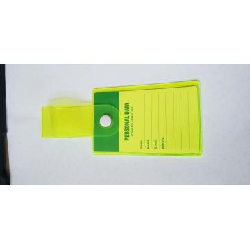 Étiquette de bagage à bouton écologique