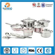 Ustensiles de cuisine en acier inoxydable de 16 pcs