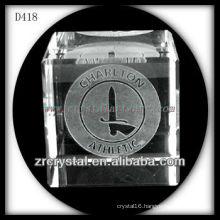 K9 3D Laser Subsurface Image Inside Crystal Cube